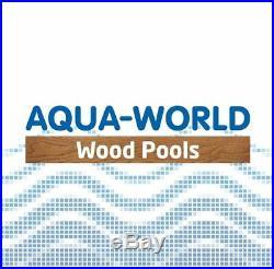 Aqua World Above Ground Wooden Hexagonal Swimming Pool With 4.6KW Heat Pump