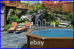 Aqua World Above Ground Wooden Octagonal Swimming Pool 5.6m x 5.17m x 1.29m