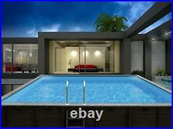 Aqua World Above Ground Wooden Rectangular Swimming Pool- 8.34m x 4.92m x 1.38m