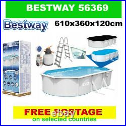BESTWAY 56369 swimming pool Above Ground Pool + PUMP 610x360x120cm