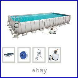 BESTWAY Swimming 9.56 x 4.88 x 1.32 M Metal Frame Pool Set Above Ground