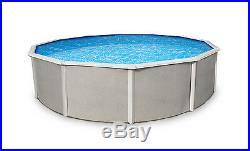 Belize 18' x 52 Round Above Ground Steel Framed Pool And Skimmer 15yr Warranty