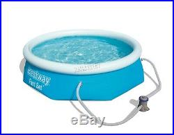 BestWay Fast Set Swimming Pool Round Inflatable Above Ground With Filter Pump