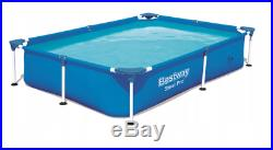 BestWay SWIMMING POOL 221x150 for Kids Rectangular Garden Above Ground Pool Stee