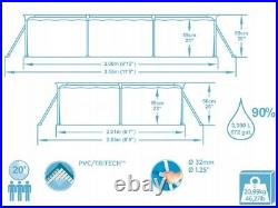 BestWay SWIMMING POOL 300 x 201 Rectangular Garden Above Ground Pool Steel Pro