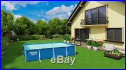 BestWay SWIMMING POOL 400 x 211 Rectangular Garden Above Ground Pool Steel Pro