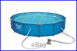 BestWay Steel Pro Frame Swimming Pool Set Round Above Ground With Filter Pump
