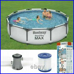Bestway 10ft Steel Pro Max Above Ground Swimming Pool Filter Pump Fast Postage