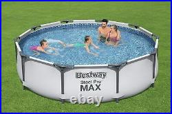 Bestway 10ft x 30inch Swimming Pool Steel Pro Max Above Ground BW56408