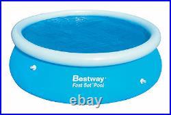 Bestway 12 Ft Outdoor Easy Fast Set Solar Swimming Pool Cover Garden Sun Heat