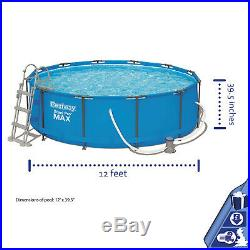 Bestway 12 feet Steel Pro Frame Above Ground Swimming Pool 12 feet x 39.5 inch