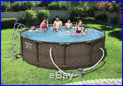 Bestway 12 feet Steel Pro Frame Above Ground Swimming Pool 12 feet x 39.5 inch