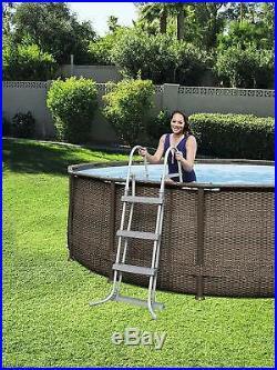 Bestway 12 feet x 39.5 inch Garden Steel Pro Frame Above Ground Swimming Pool