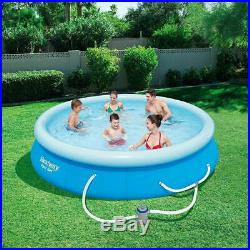 Bestway 12ft x 30in Fast Set Up Inflatable Above Ground Pool Filter Pump IN HAND