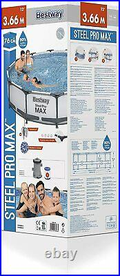 Bestway 12ft x 30inch Swimming Pool Steel Pro Max Above Ground BW56416
