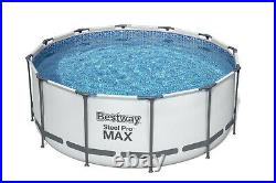Bestway 12ft x 48inch Deep Swimming Pool Steel Pro Max Above Ground BW56420