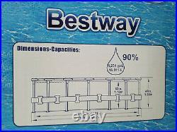 Bestway 15' x 48 Round Steel Pro Max Above Ground Swimming Pool Set IN HAND