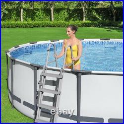 Bestway 15FT Steel Pro Max Round Above Ground Garden Swimming Pool 457x107cm