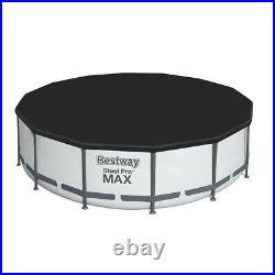 Bestway 15FT Steel Pro Max Round Above Ground Garden Swimming Pool 457x122cm
