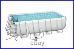 Bestway 16ft Rectangular Steel Pro Frame Set Above Ground Swimming Pool BW56670