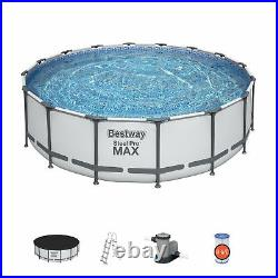 Bestway 16ft x 48in Steel Pro Max Pool Set Above Ground Swimming Pool (19,480L)