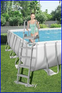 Bestway 24 ft x 12ft Power Steel Frame above Ground Pool, Ladder, Pump & Cover