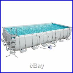 Bestway 24ft. X 12ft. X 52in. Rectangular Frame Above Ground Swimming Pool Set