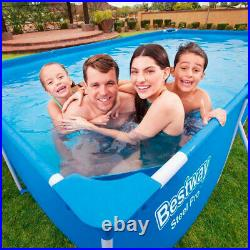 Bestway 56424 Rectangular Above Ground Swimming Pool Steel Pro 400x211x81 cm