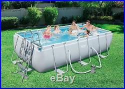 Bestway 56441 Power Steel Above Ground Rectangular Swimming Pool 404x201x100 cm