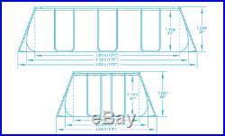 Bestway 56456 Power Steel Above Ground Frame Pool Rectangular