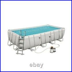 Bestway 56466 Above Ground Steel Frame Swimming Pool Rectangular 122x274x549cm