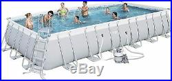 Bestway 56475 Above Ground Swimming Pool Rectangular Power Steel 732x366x132 cm