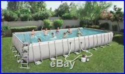 Bestway 56623 Power Steel Above Ground Rectangular Frame Pool 956x488x132cm