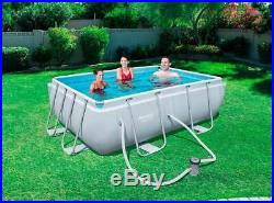 Bestway 56629 Power Steel Above Ground Rectangular Swimming Pool 282x196x84cm