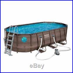 Bestway 56716 Oval Above Ground Pool with Swim Vista Porthole 549x274x122 cm