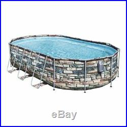 Bestway 56719 Power Steel Above Ground Swimming Pool Oval Set 610x366x122 Cm