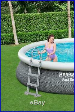 Bestway 57372 Fast Set Round Above Ground Swimming Pool 457x107 cm