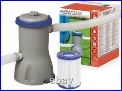 Bestway 58386 Filter Pump Flowclear Pool Cleaner Filter Pool Pump 3028L/H