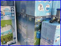 Bestway Above Ground Swimming Pool 12ft / 14ft + Filter Pump + Ladder option