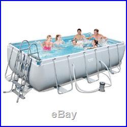 Bestway Above ground swimming pool steel 404x201x100cm+pump filter ladder 56441