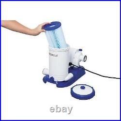 Bestway Flowclear 2500 Gph Above Ground Swimming Pool Water Filter Pump 58392e