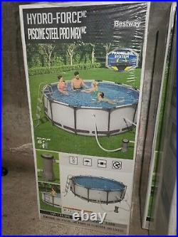 Bestway Hydro force 12ft Steel Above Ground Pool with Pump and Ladder- EZ set up