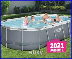 Bestway Oval Above Ground Swimming Pool Set 16Ff /4.88x3.05x1.07m