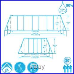 Bestway Pool Above-Ground 412x201x122cm with Pump Filter and Ladder 56456