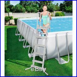 Bestway Pool Above-Ground Steel 671x366x132cm + Pump / Sand Ladder 56471