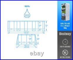 Bestway Power Steel 20' x 12' x 48/6.10m x 3.66m x 1.22m Oval Above Ground Pool