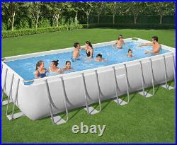 Bestway Power Steel 21Ft x 9Ft x 52 Rectangular Above Ground Swimming Pool Set