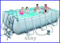 Bestway Power Steel Above Ground Rectangular Swimming Pool 404x201x100 Cm 56441