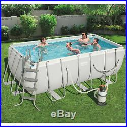 Bestway Power Steel Frame Above Ground Swimming Pool 4.12 x 2.01 m
