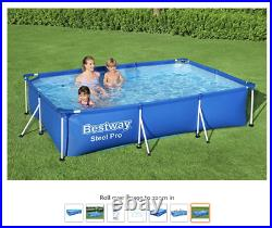 Bestway STEEL PRO Frame Swimming Pool (3m x 2m x 66cm) Large Above Ground 9.1ft